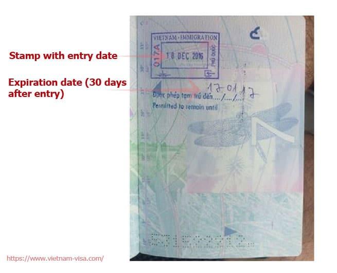 Phu Quoc visa exemption stamp