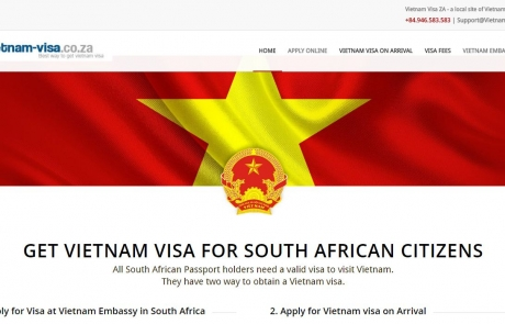 Vietnam-visa.com Officially Launched Local Website for South Africa