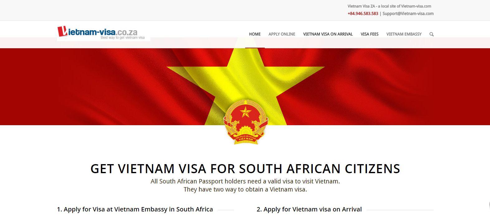 Vietnam visa in South Africa