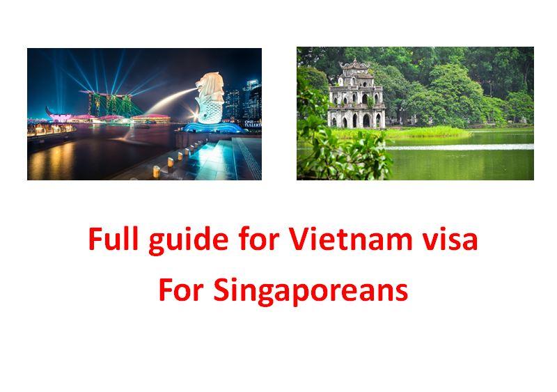 Full free guide for Vietnam visa for Singaporeans