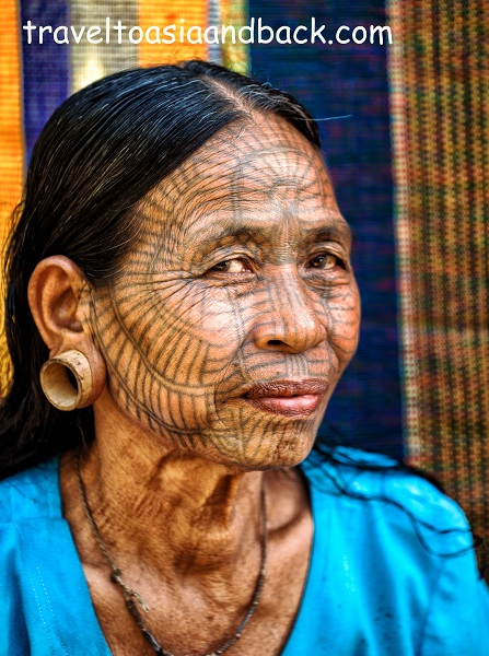 Tattooed Ladies - Chin State - Myanmar - Vietnam visa