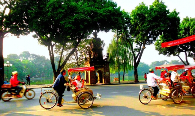 Cyclo tour in Hanoi - Visa Vientam