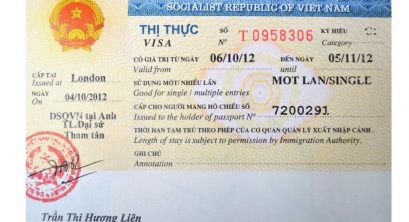 Vietnam Visa for UK citizens – Exemption Agreement & Overstaying visa in Vietnam