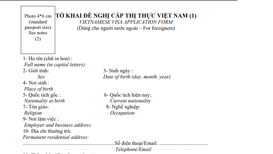 Sample Letter For Visa Application For Family from www.vietnam-visa.com