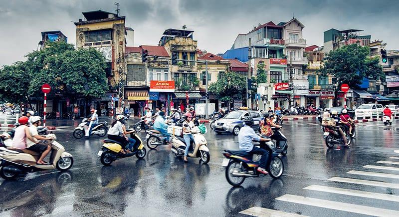 Hanoi street Vietnam visa