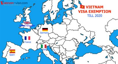 Vietnam Visa Exemption for citizens of 5 European countries till 2020