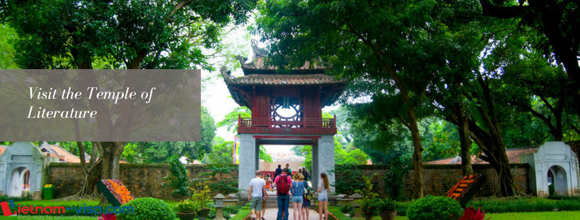 Visit the Temple of Literature - Hanoi - Vietnam visa online