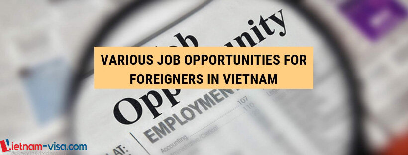 Various job opportunities for foreigners in Vietnam - Vietnam visa service