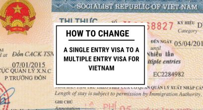 Change from Vietnam single entry visa to multiple entry