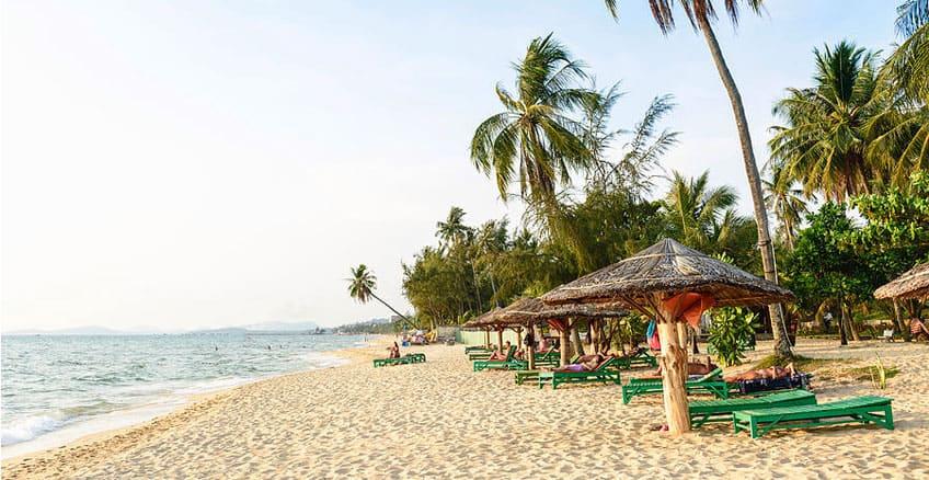 Mesmerizing wild white sand beaches