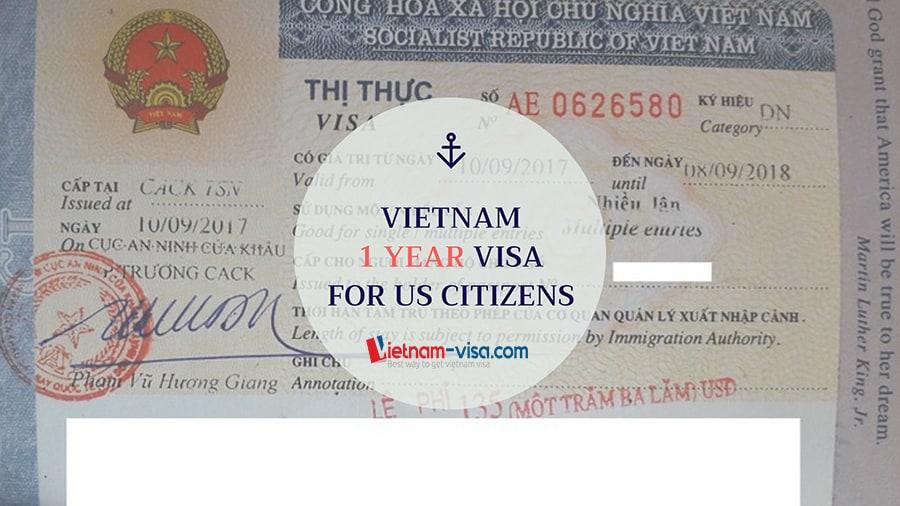 Vietnam 1 year visa for US citizens
