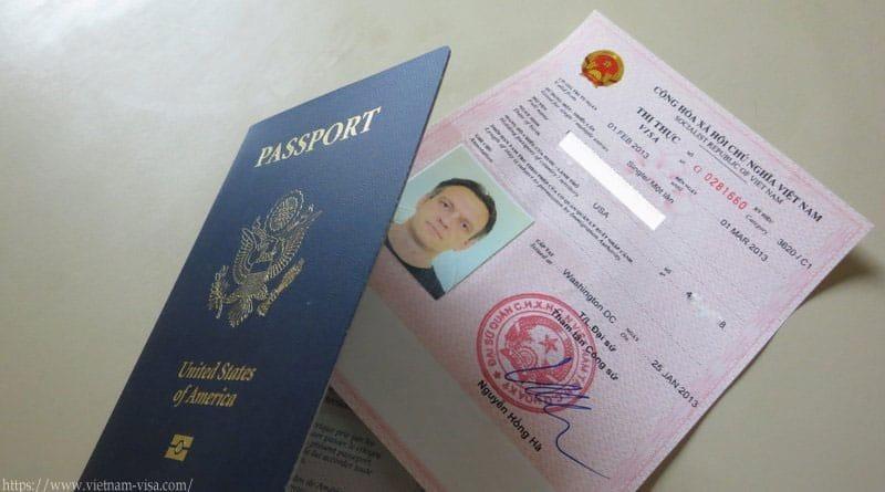 Visa Việt Nam dạng visa rời