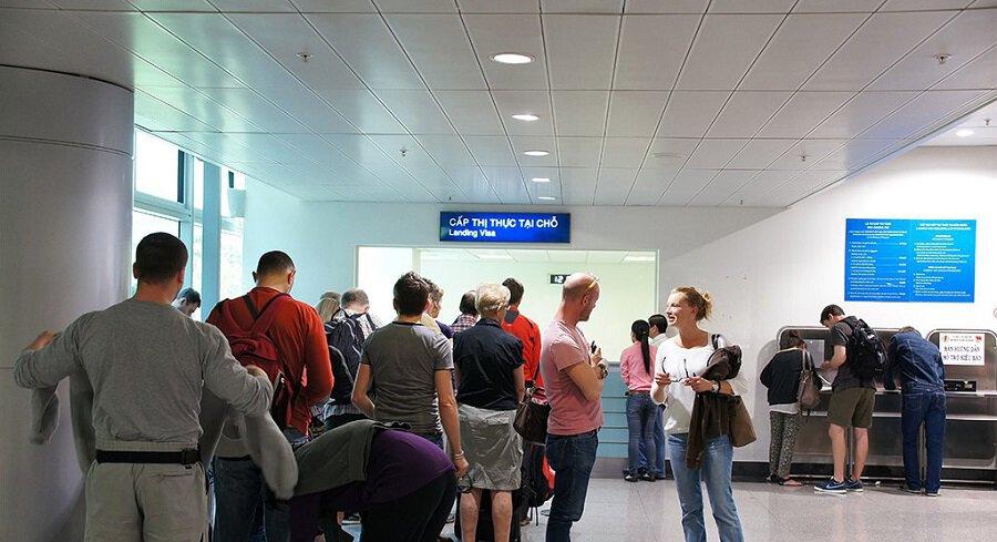 Landing visa counter at Ho Chi Minh Airport