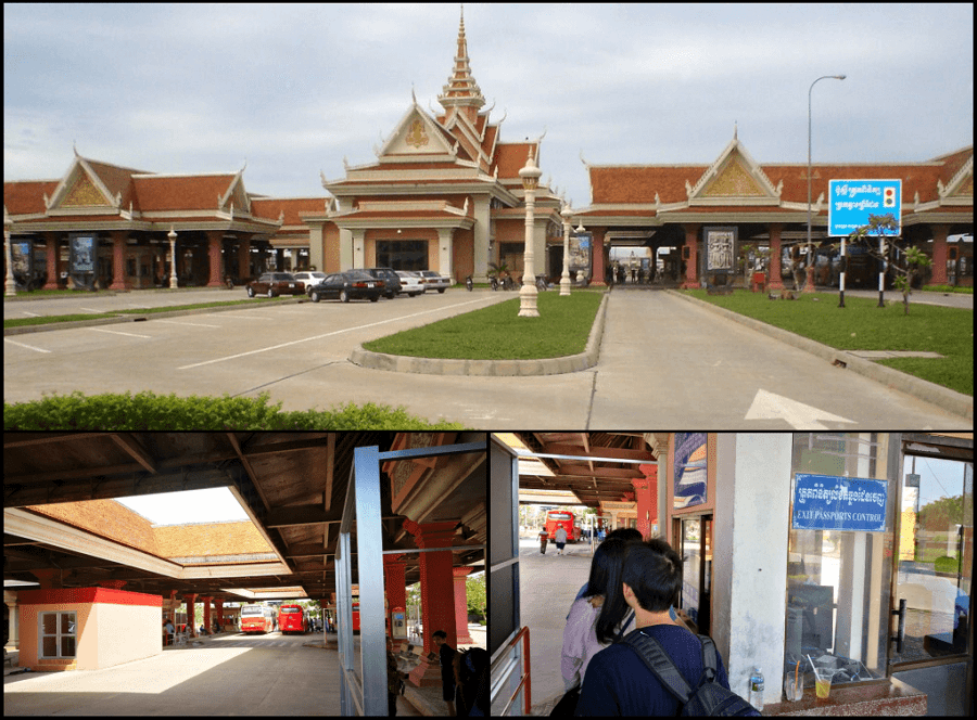Bavet border gate - Cambodia - visa run from saigon