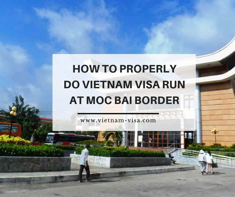 Vietnam visa run at Moc Bai border checkpoint
