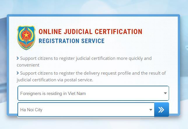 Online Register for Vietnam Police Check