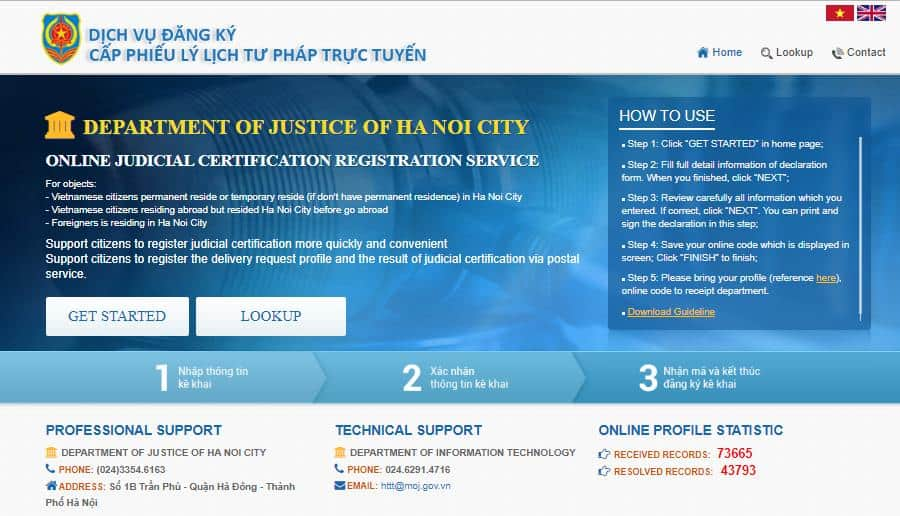 Register Vietnam police check online for foreigners in Vietnam