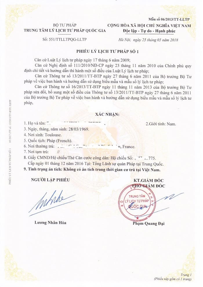 Sample of Vietnam police check for foreigners