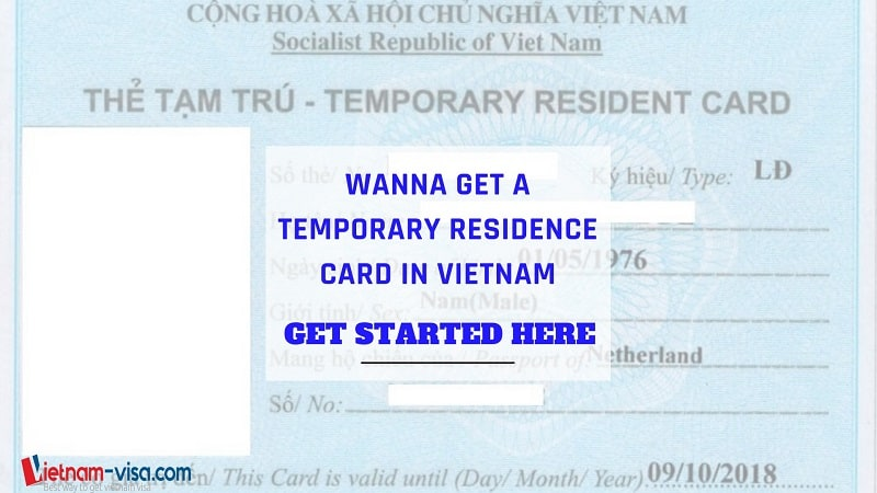 How to get temporary residence card in Vietnam