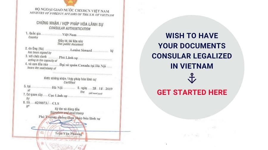 Consular legalization in Vietnam