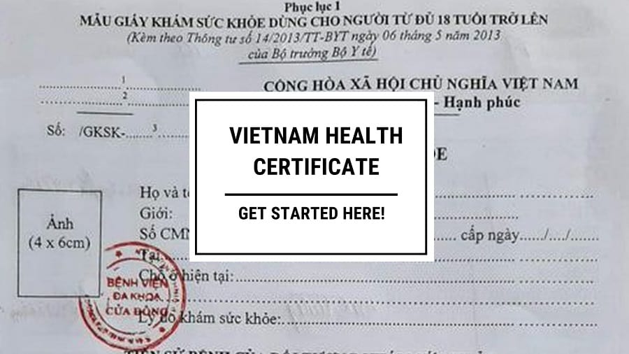 Vietnam health certificate for foreigners - All you need to know