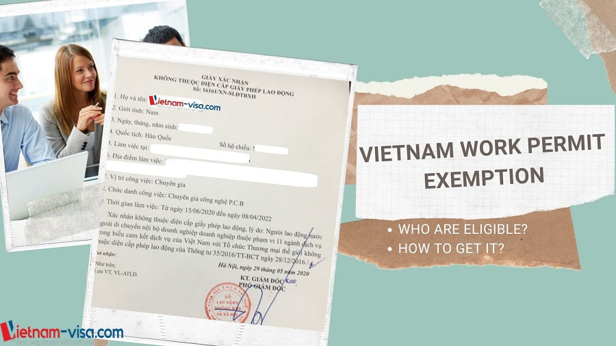 Vietnam work permit exemption certificate - Vietnam-visa.com