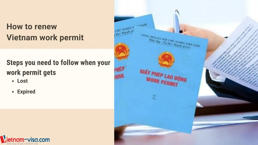 Steps to renew work permit in Vietnam