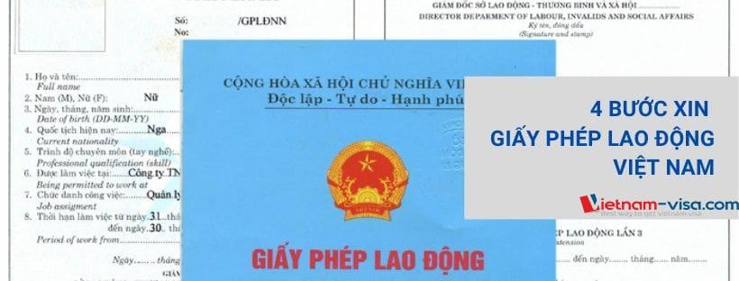4 bước xin Giấy phép lao động Việt Nam