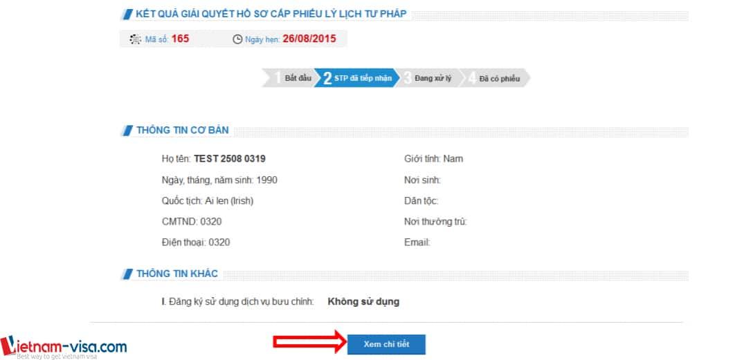 Ấn vào đây để xem chi tiết thông tin đã đăng ký lý lịch tư pháp - Vietnam-visa
