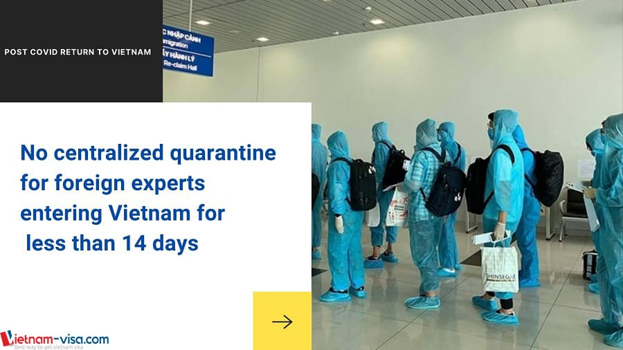 No centralized quarantine for foreign experts entering Vietnam for less than 14 days