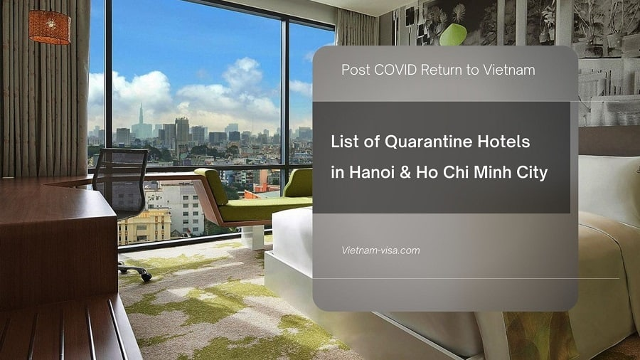 List of Quarantine Hotels in Hanoi and Ho Chi Minh City