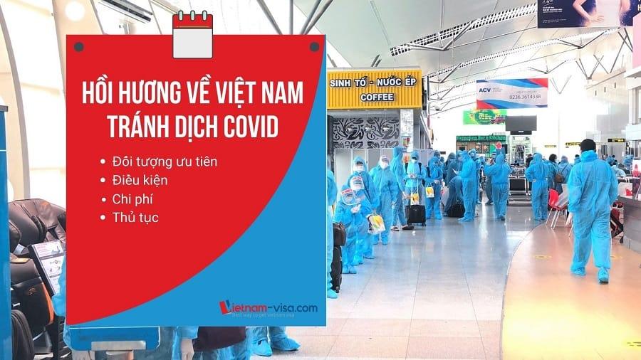 Hướng dẫn hồi hương về Việt Nam tránh dịch Covid
