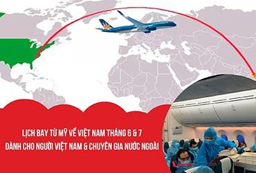 Lịch bay, Vé máy bay từ Mỹ về Việt Nam mùa dịch Covid 2021 – Tháng 6 – 7