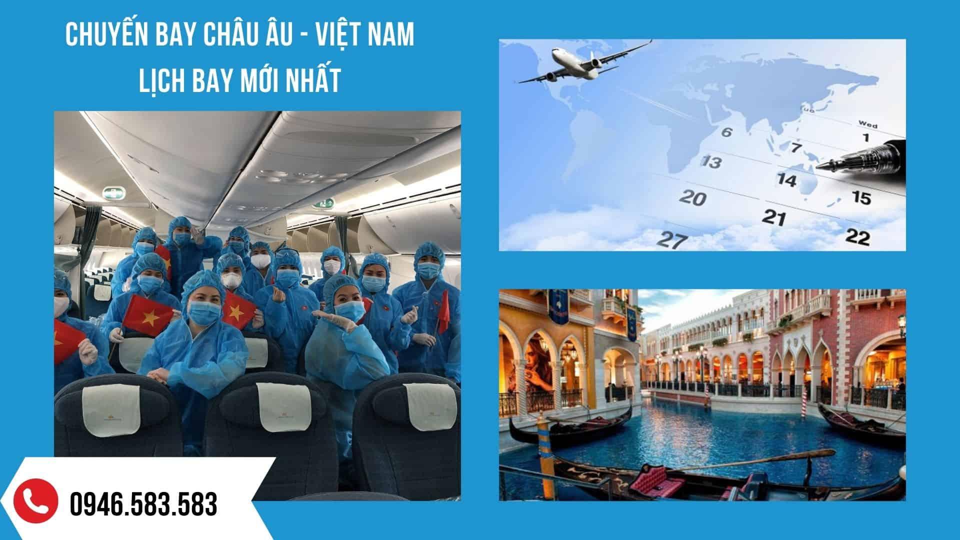 Lịch chuyến bay từ châu Âu về Việt Nam