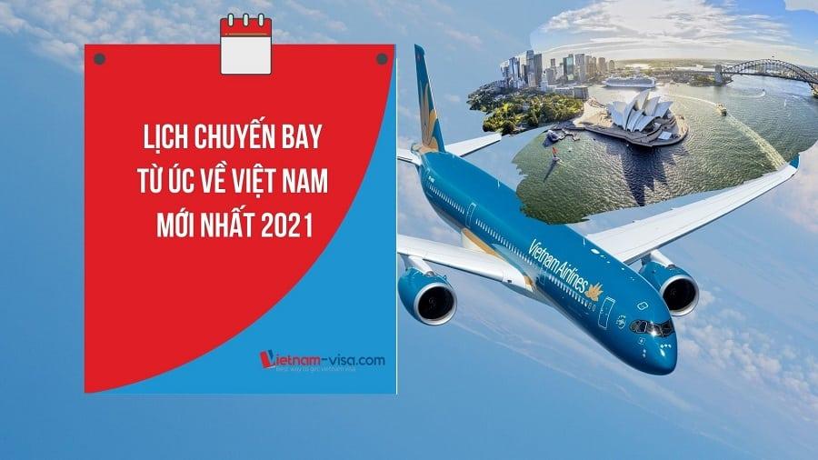 Lịch bay, Vé máy bay từ Úc về Việt Nam mùa dịch Covid – Đăng ký hôm nay
