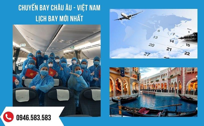 Đăng ký Chuyến bay từ Châu Âu về Việt Nam hôm nay – Lịch bay Châu Âu – Việt Nam mới nhất