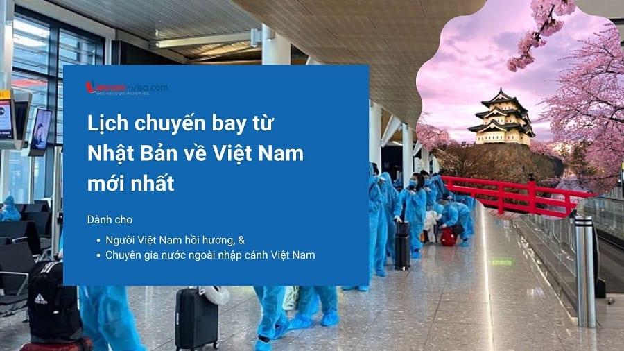 Lịch chuyến bay từ Nhật Bản về Việt Nam mùa Covid mới nhất – Vé máy bay giá rẻ từ Nhật Bản về Việt Nam