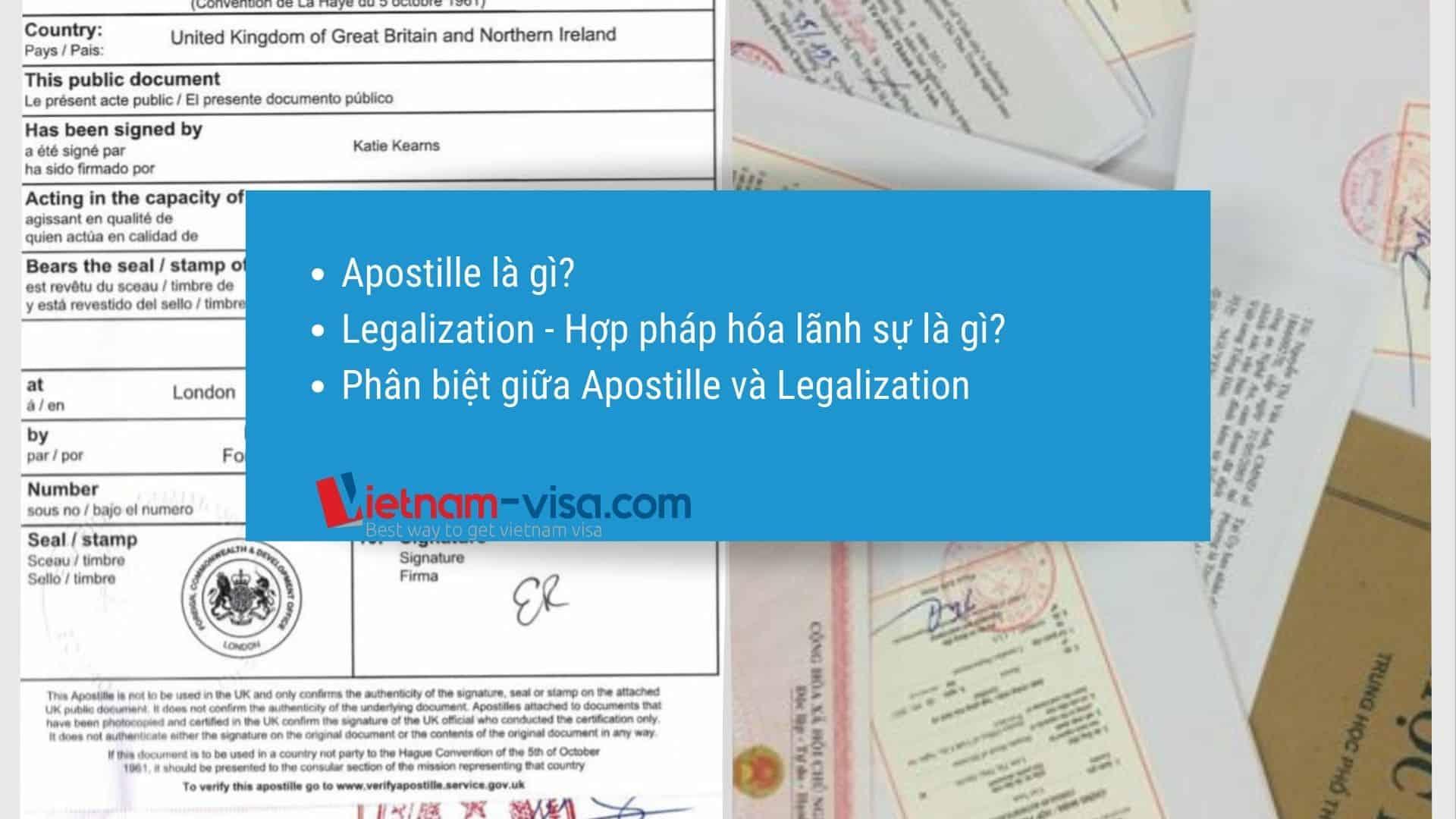 Apostille là gì – Phân biệt Apostille và Legalization – Hợp pháp hóa lãnh sự