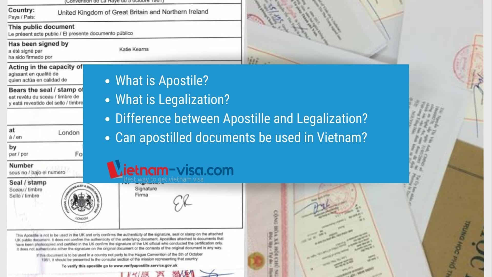 What is Apostille? Is Apostille Available in Vietnam