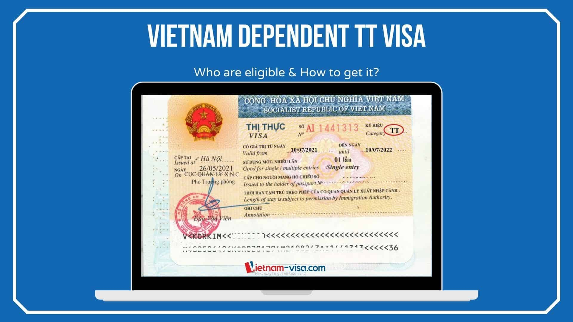 Vietnam Dependent TT Visa for Foreigners – How to get it