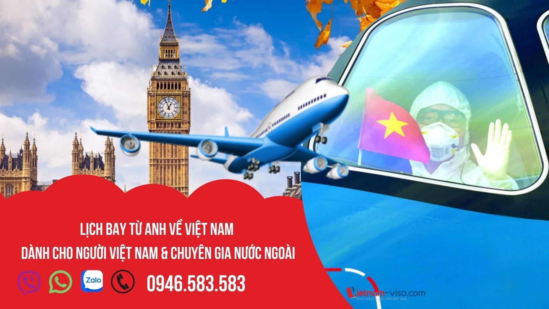 Cập nhật lịch bay từ Anh về Việt Nam tháng 10, 11 & 12/2021 – Đặt vé hôm nay!