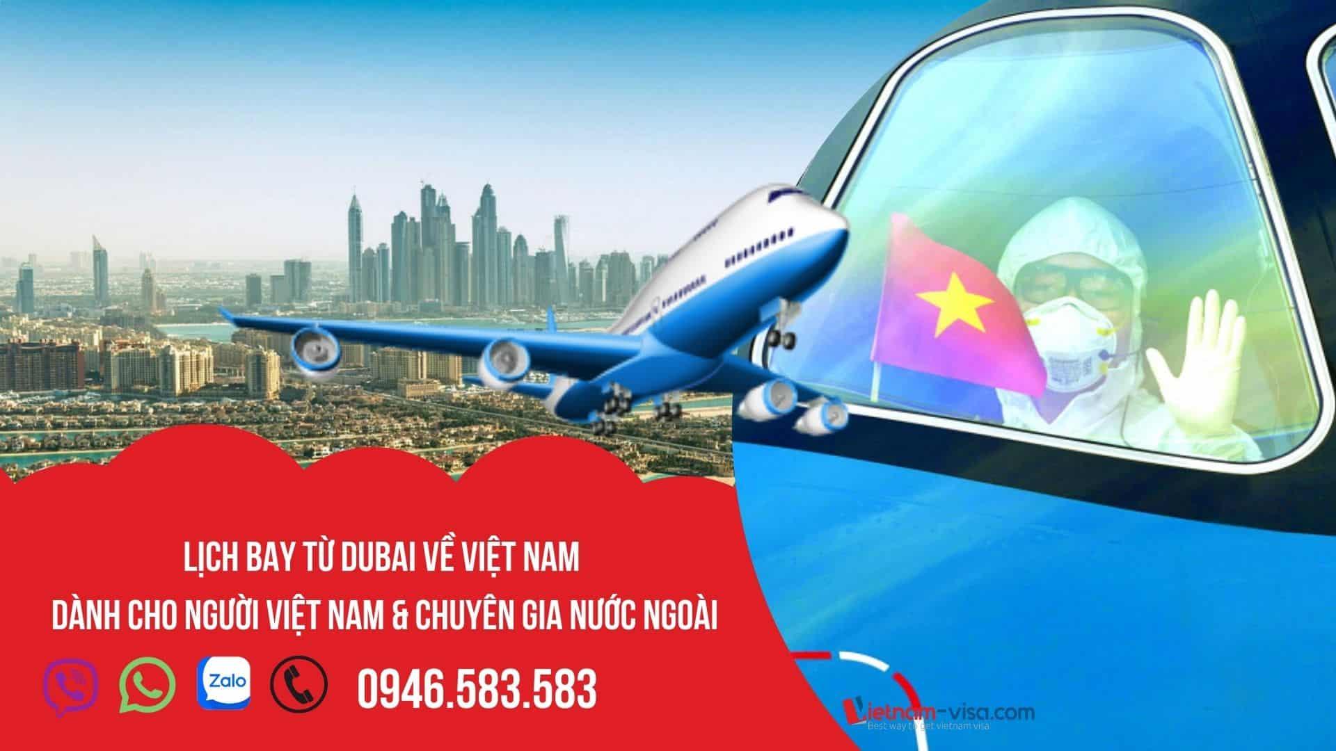 Vé máy bay từ Dubai về Việt Nam – Cập nhật Lịch bay tháng 10/2021