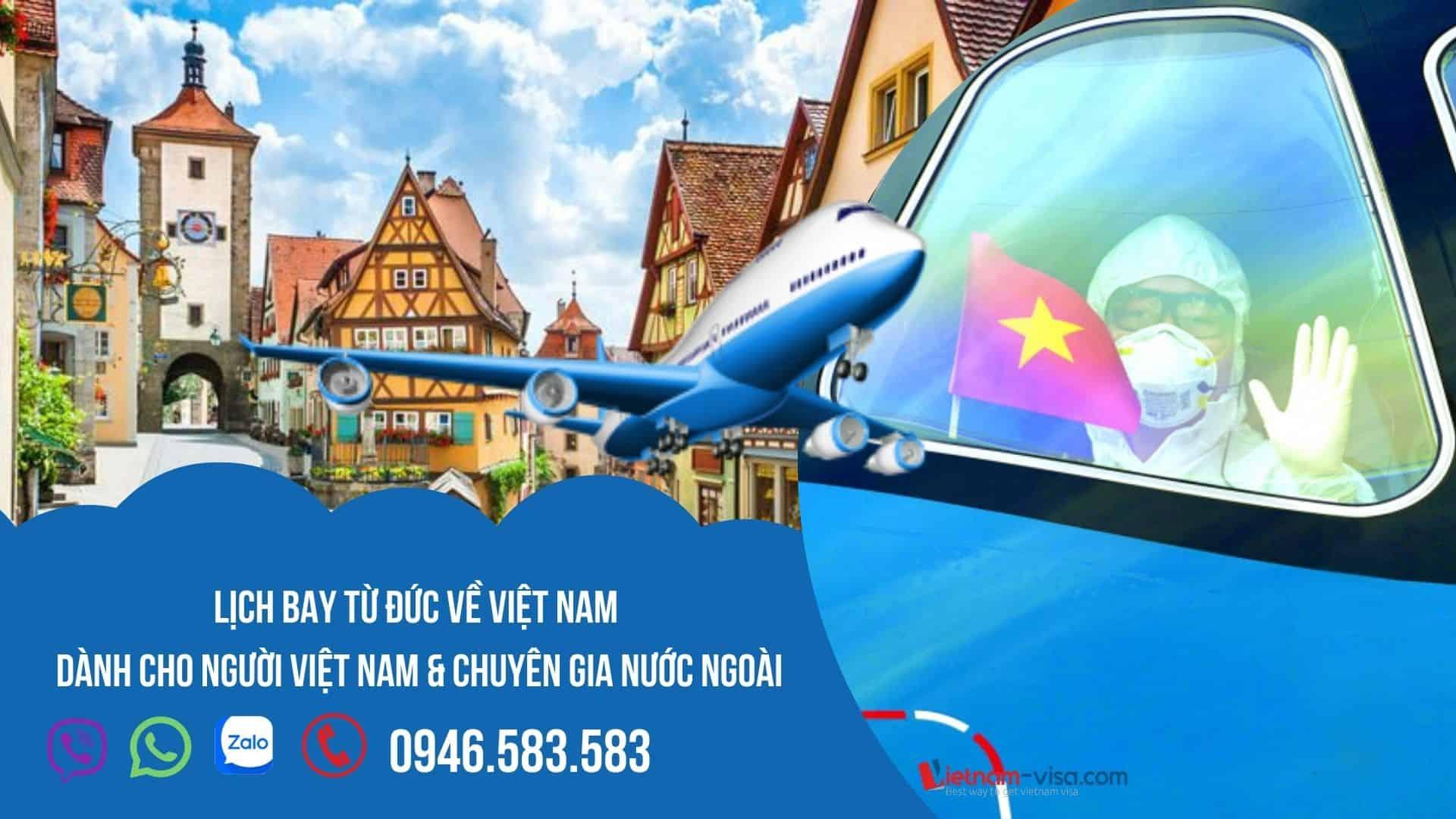 Lịch chuyến bay từ Đức về Việt Nam tháng 10, 11 & 12/2021 – Đặt vé HÔM NAY