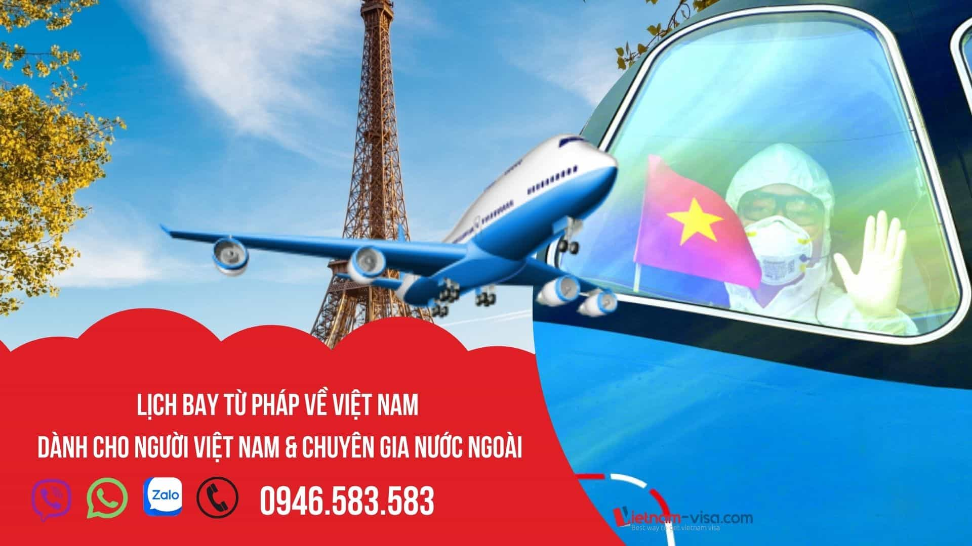 Đặt vé máy bay bay từ Pháp về Việt Nam – Lịch bay tháng 10, 11 & 12/2021