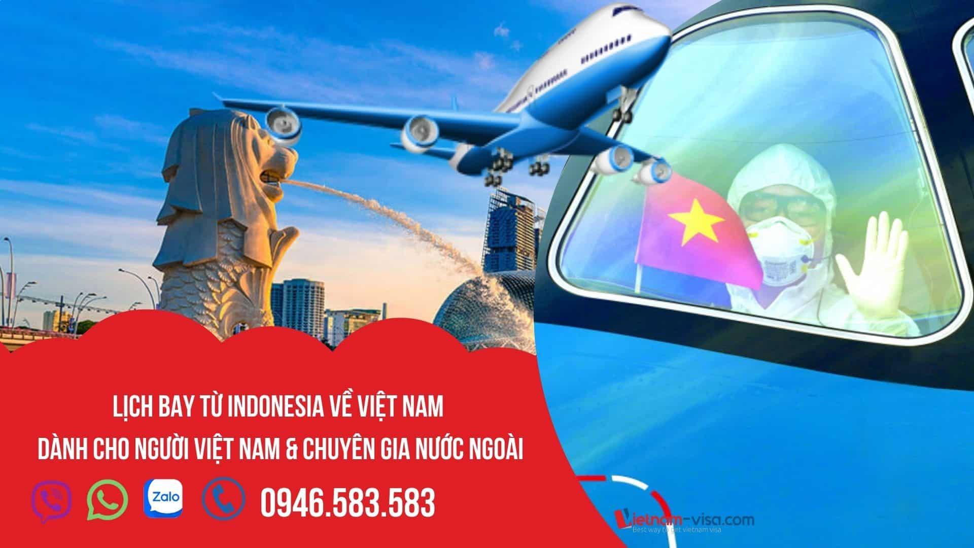 [HOT] Vé máy bay từ Indonesia về Việt Nam – Lịch bay tháng 10 & 11