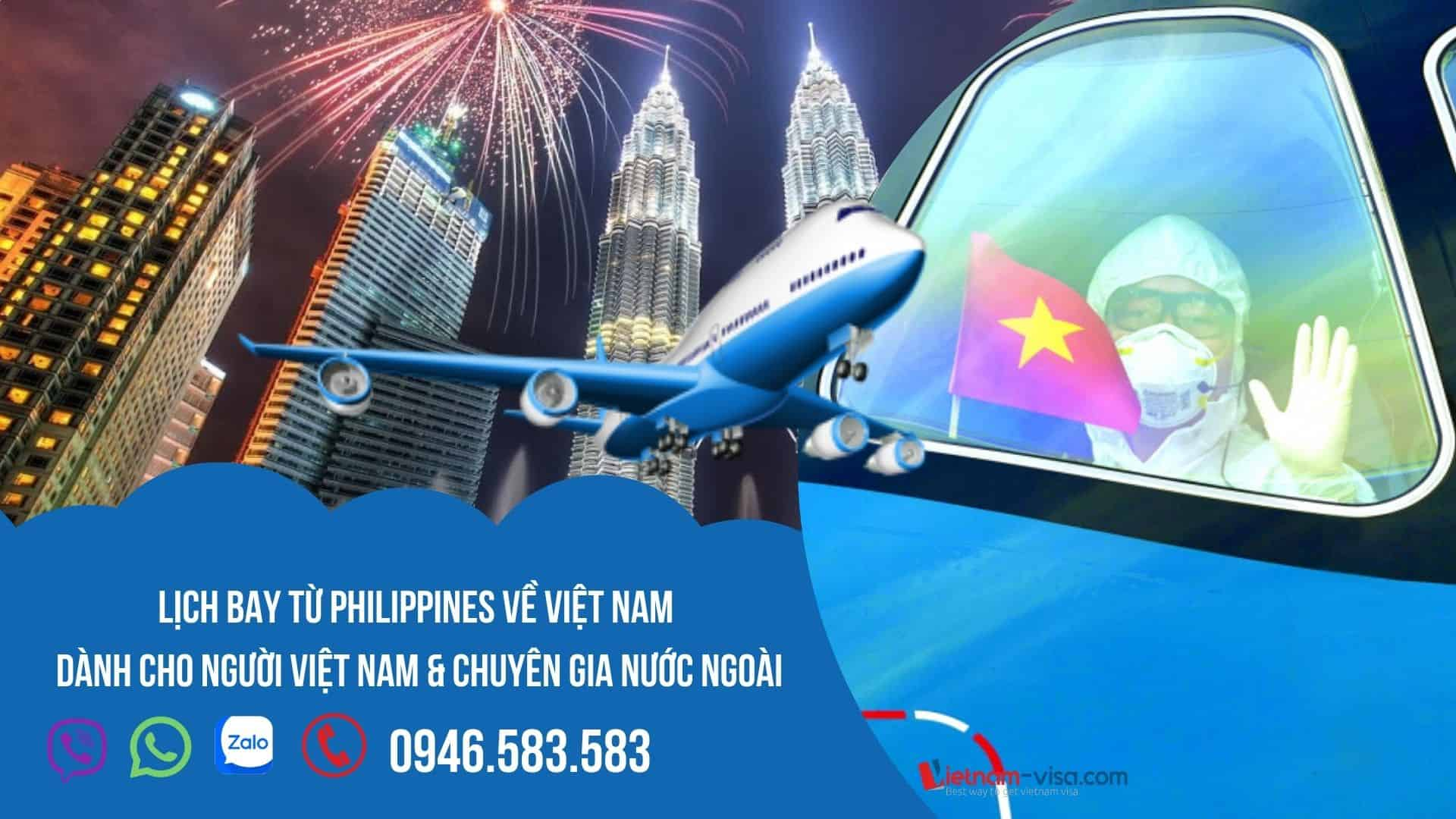 Đặt vé máy bay từ Philippines về Việt Nam – Lịch bay tháng 10 & 11